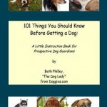 Please preview my book of dog advice