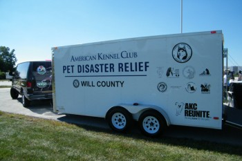 One of the previously deployed trailers.