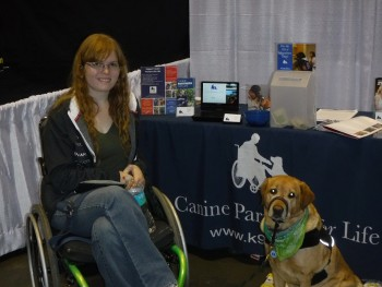I was fortunate enough to meet Crystal and Tommie at the Canine Partners booth on Sunday.