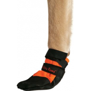 From Cabela's, at a mid-range price:  the Rugged Dog Boot, available in four sizes.  Price ranges from $37.99 for the small to $39.99 for the XL.