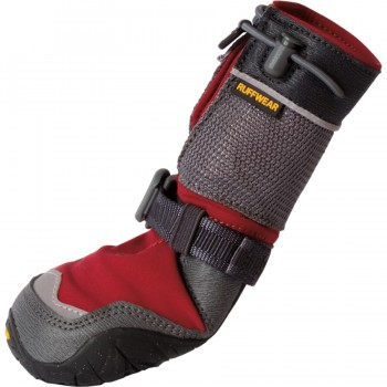 On the high end, from BackCountry.com: Ruffwear Bark'n Boots Polar Trex - Set of 4, currently on sale for $62.96.  (Normal price was $89.95.)