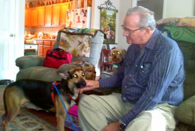 Roger and Sugar Bear, courtesy Pets for Patriots