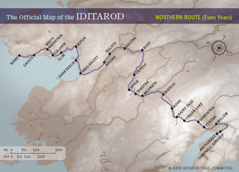 Map courtesy Iditarod.com