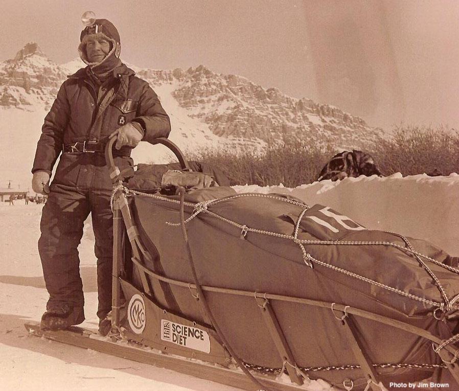 Joe Redington Sr., Father of the Iditarod, Brooks Range photo from 1986, photo by Mike Jackoboice.  (from Iditarod.com)