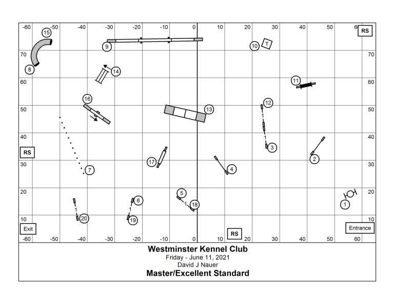 WKC Agility Standard 2021 Map
