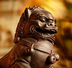 statue of a Pekingese or Fu Dog